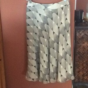 Long lined silk skirt